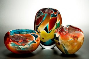Own Art can cover a group of lower value items whose combined total adds up to £100 or more. Image:  Peter Layton, Lagoon Group Blown Glass