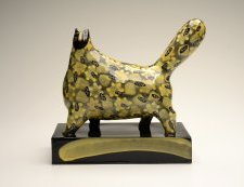 Jenny Southam Yellow And Black Cat. Ceramic