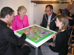 Volunteer Laura James with the Mayor of Farnham, At Play 2012
