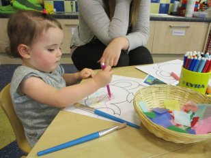 Outreach workshop with families, Children's Centre, Farnham Hale